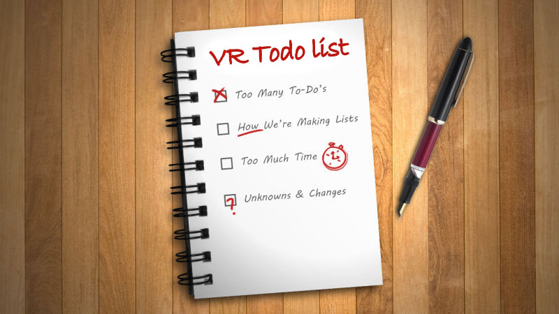 Daily VR Development Todo List